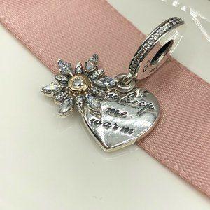 Snowflake & Heart Dangle Charm